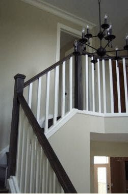 Stairs leading to a second storey