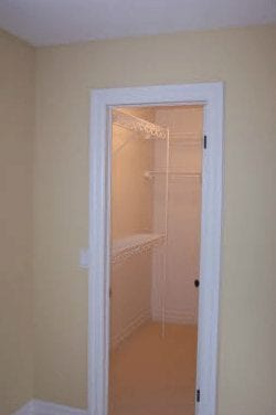Small walk-in closet